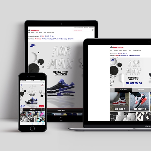 Brand Elevation in eRetail | Nike Experience Page